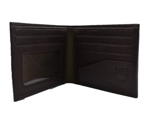 Save the Ocean Recycled Olive Slim Fold Wallet