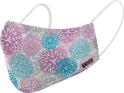 Zinnia Floral printed mask