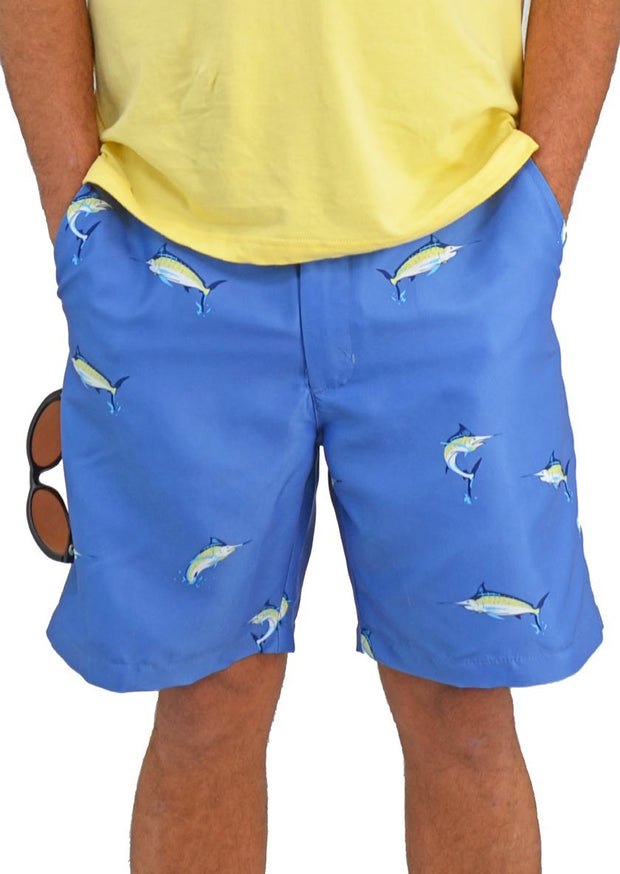 Bermuda Styles Short with allover Blue Marlin