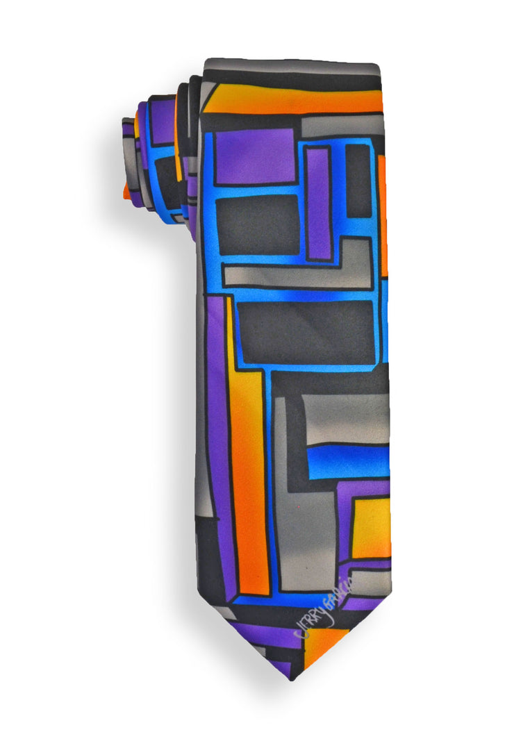 Jerry Garcia Curves & Lines Mens Tie