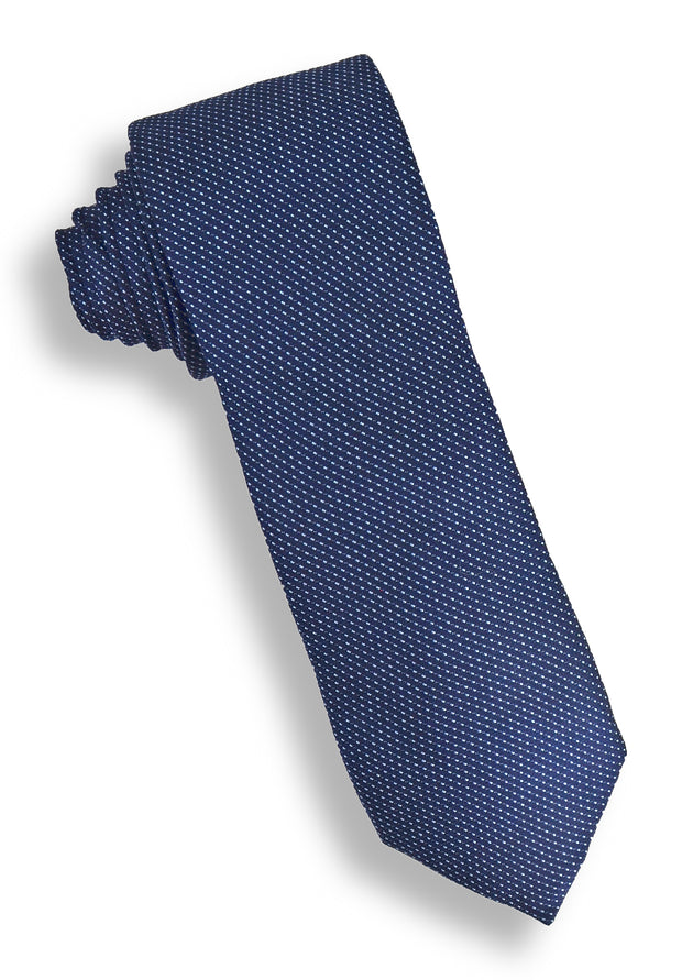 XMI Dot Stitch Platinum Tie