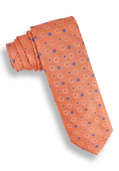 XMI Spaced Daisy Platinum Tie