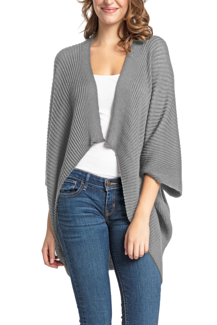 Save the Ocean Recycled Grey Knit Kimono