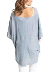 Save the Ocean Recycled Light Grey Knit Twist Poncho