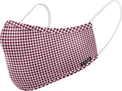 Gingham printed mask