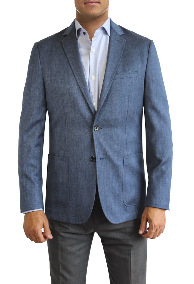 Blue Heather two button jacket by Daniel Hechter