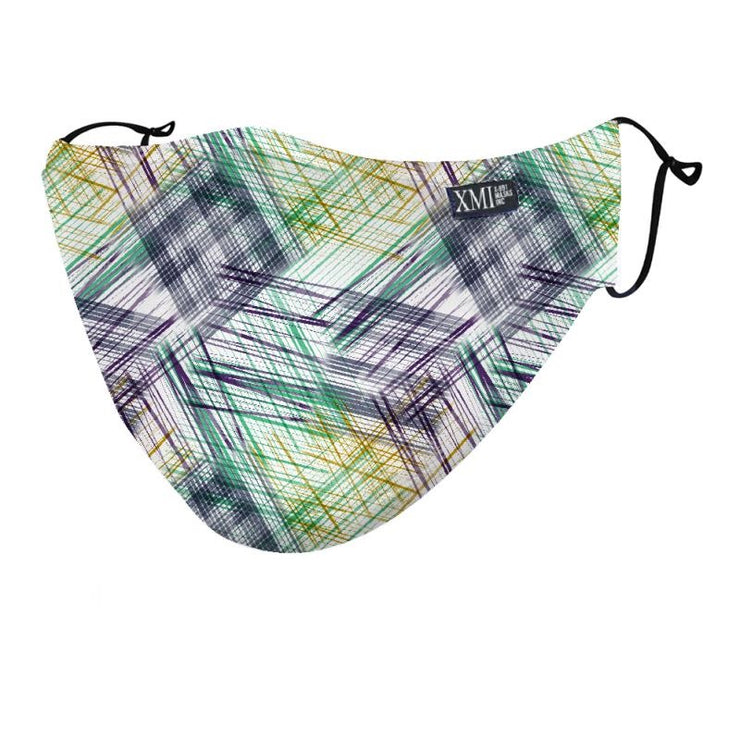 Plaid Sketch printed mask