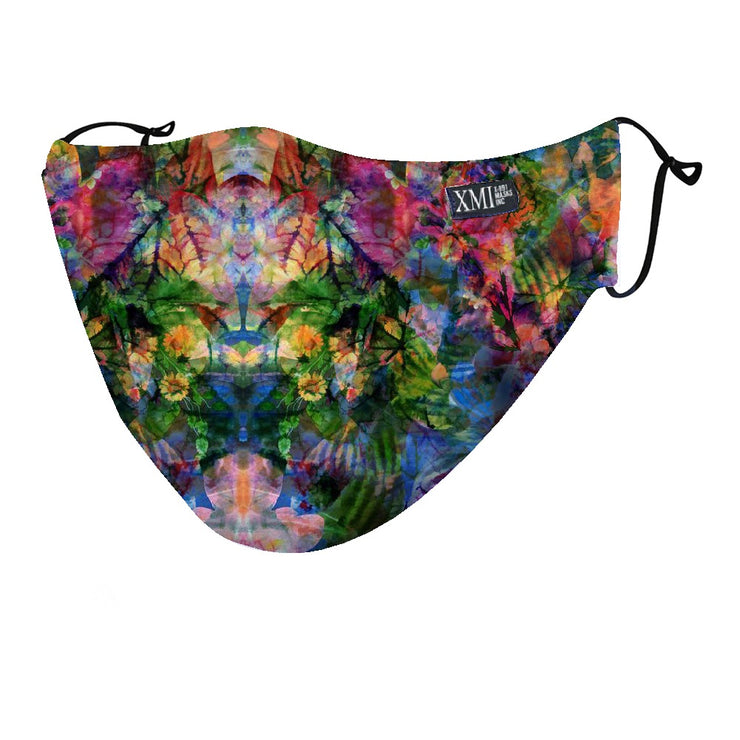 Jungle color printed mask