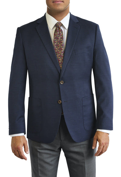 Navy Blazer with open patch pockets by Daniel Hechter