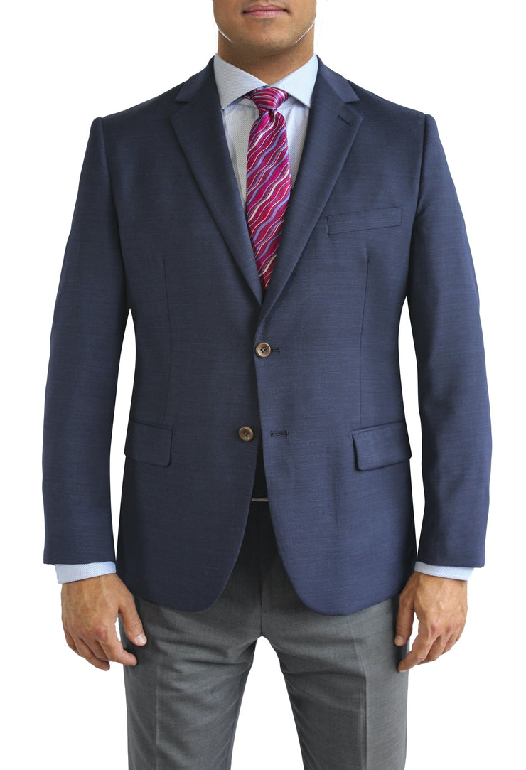 Navy Blazer Two Button Blazer by Daniel Hechter