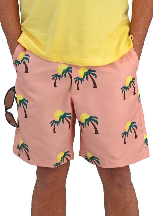 Bermuda Styles Short with allover Palm Trees