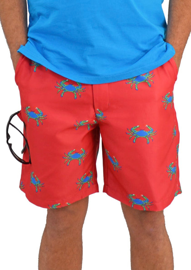 Bermuda Styles Short with allover crab