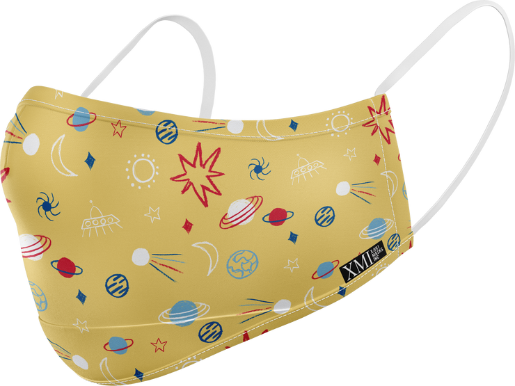 Space printed mask for Kids