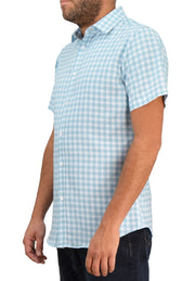 Save the Ocean Plaid Short Sleeve Casual Shirt