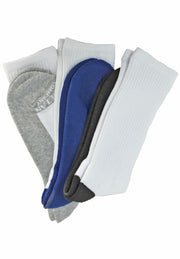 Save the Ocean Recycled 3 pack  Athletic Socks-3 White Socks