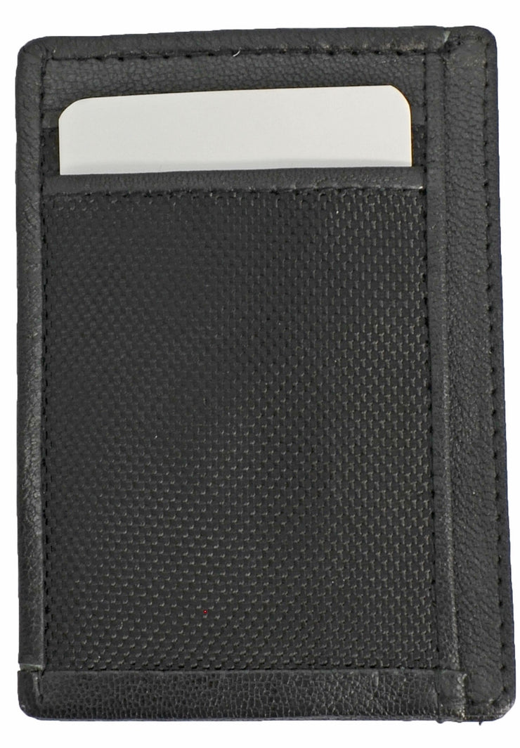 Save the Ocean Recycled Black Front Pocket Wallet