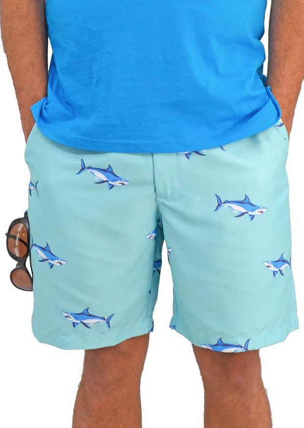 Bermuda Styles Short with allover Sharks