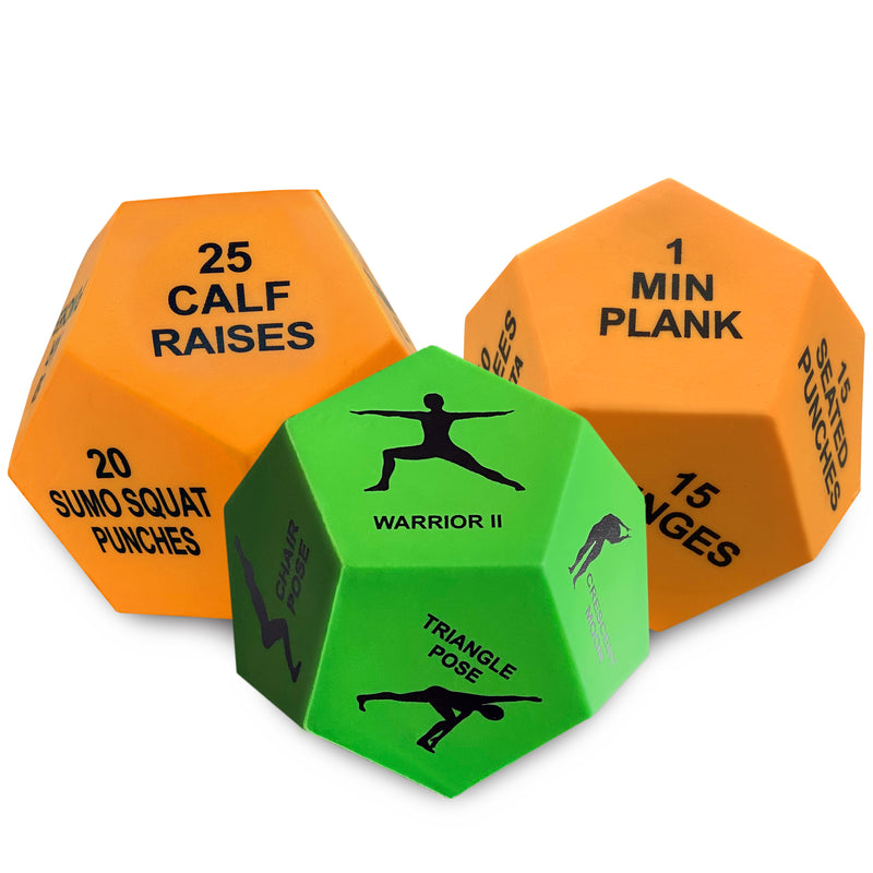 Alexanta Exercise Dice - 3x 12-Sided Workout Dice, Full Body Workout