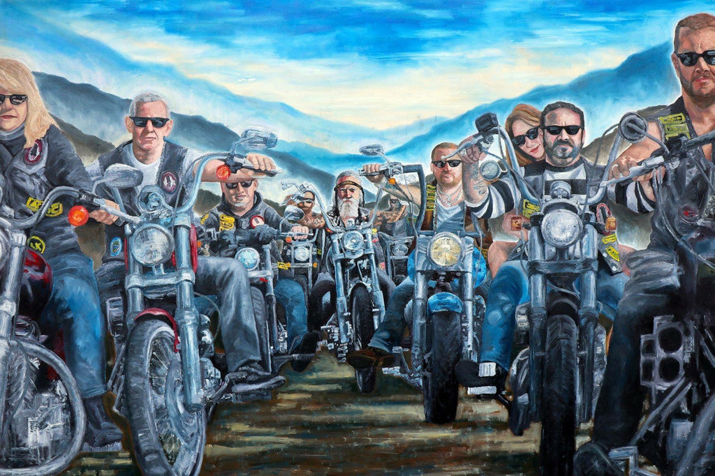 Biker Club by Albie The Artist