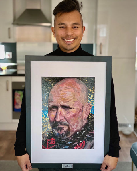Albie The Artist and John Cocker painting