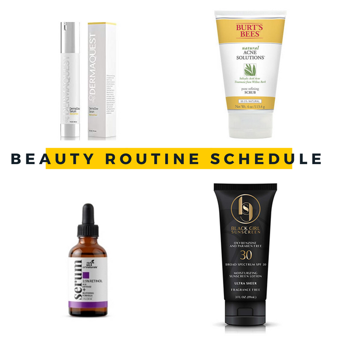 Beauty Routine Schedule
