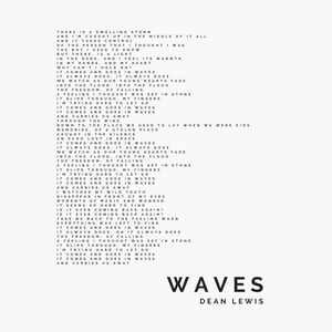 Dean Lewis, Waves, Song Lyric Print