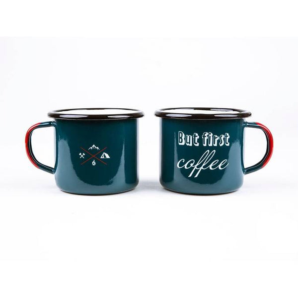 But First Coffee Enamel Mug