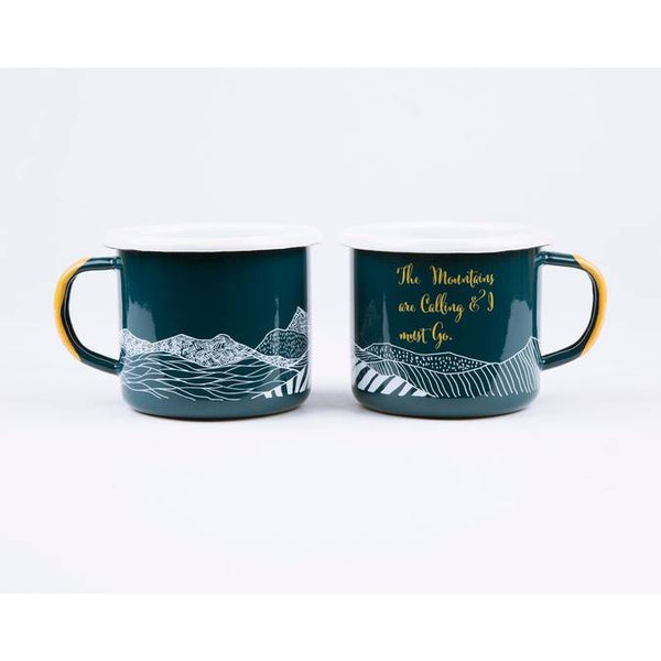 The Mountains are Calling Enamel Mug