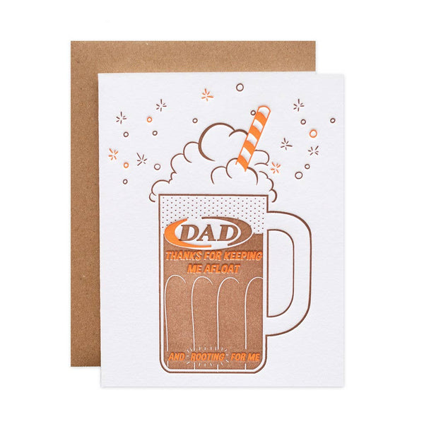 Root Beer Float Dad Card