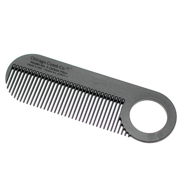 Chicago Comb Co. Model No. 2 Carbon Fiber Comb