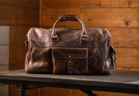 KODIAK LEATHER 60L Weekender Duffel Bag [ANTIQUE BROWN]