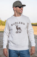 Burlebo [PULLOVER] Deer Est 2015 Fleece Pullover Size S, M, L, XL, 2X