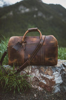 KODIAK LEATHER 30L Weekender Duffel Bag [DARK WALNUT]