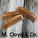 M. Cloyd & Co. Peach Wood Comb