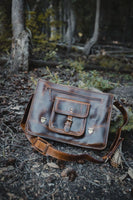 "KODIAK LEATHER 17"" Buffalo Leather Satchel"
