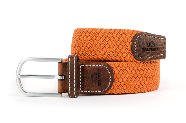 "Billybelt ORANGE PAPRIKA Woven Elastic Belt 33""/39"""