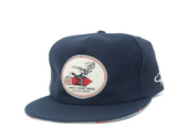 The Ampal Creative Don't Think Twice Wool Navy Strap Back Hat