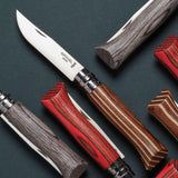 Opinel Nº8 Laminated Birch Edition Knife [BROWN]