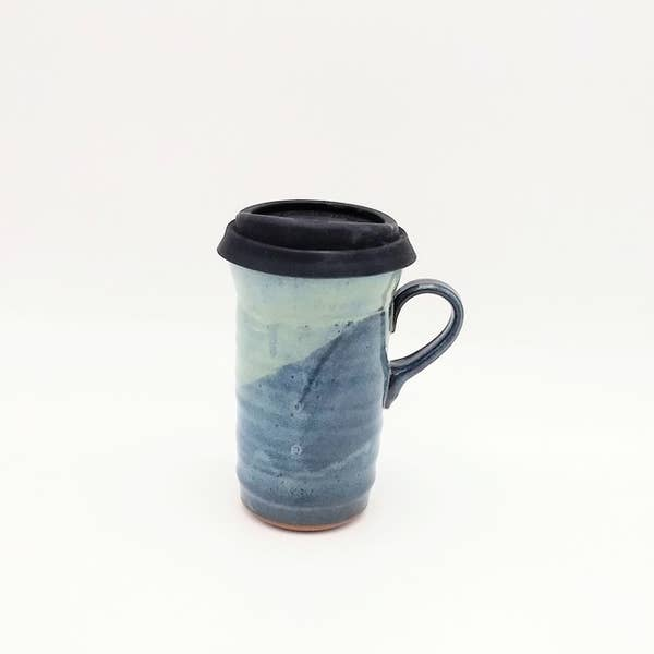 Clay Path Blue Cheese Travel Mug with Lid