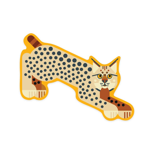 Bobcat Geometric Sticker