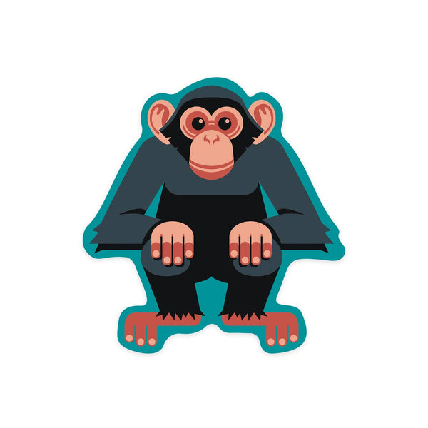 Chimpanzee Geometric Sticker