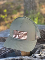 DIAMOND BILLS US American Flag Come and Get It Loden Camo Snapback Hat