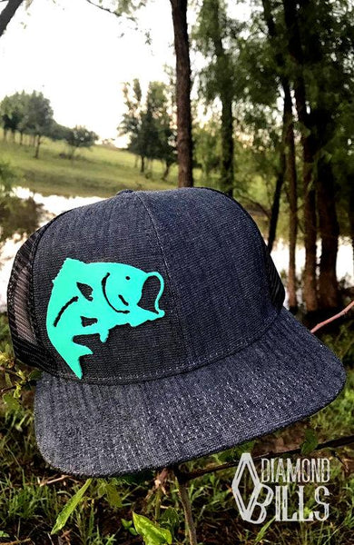 Diamond Bills Cool Catch Denim Turquoise Bass Hat