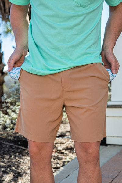 Burlebo [SHORTS] Desert Sand Flying Duck Pockets Performance Shorts Size M, L, XL