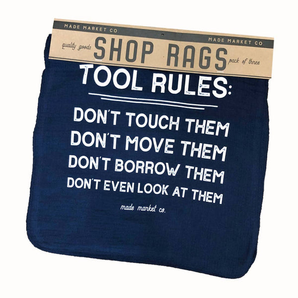 Shop Rags Tool Rules