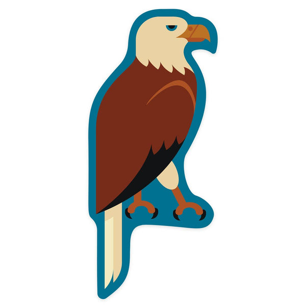 Bald Eagle Geometric Sticker Small or Large
