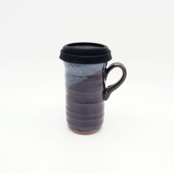 Clay Path Eggplant Travel Mug with Lid