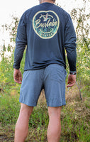 Burlebo [SHORTS] Heather Grizzly Grey Deer Pockets Performance Shorts Size S, M, L, XL, 2X