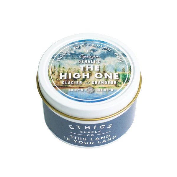 Ethics Supply Co • Denali National Park's The High One Travel Candle 3.8oz