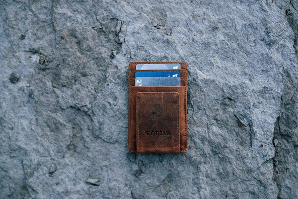 KODIAK LEATHER Money Clip [MID BROWN]